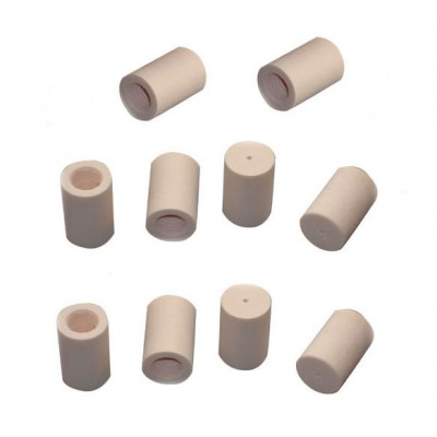 Mezz 13mm & 1in/0.6in Pool Cue Stick Ivory Fiber Capped & Threaded Ferrules (10 pcs)