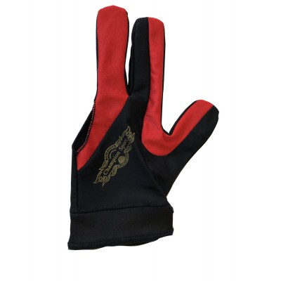 2019 Champion Cut 3 finger Glove ( red black)