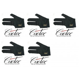 Lot of 5 Cuetec Black Pool Glove for Left Hand(5 pcs)