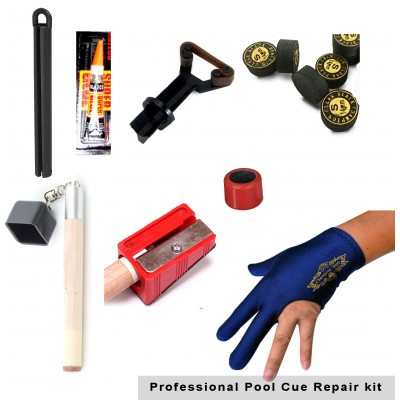 Premium Pool Cue Tip Accessory Repair Kit