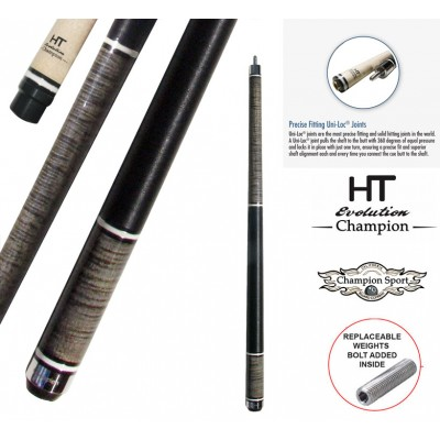 Black Friday Deal!  Champion Inlaid Custom Billiard NA1 Pool Cue Stick, Hybrid Shaft, Uni-loc Joint