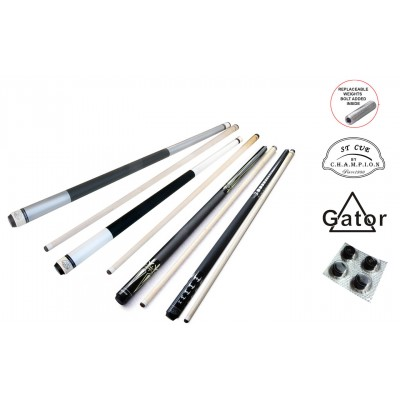 4 ST Pool Cue Sticks and Accessories