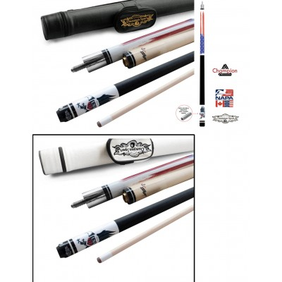 Champion Gator Pool Cue Stick with Low Deflection Shaft, Pool Glove- 13mm. Model: GA2, Retail Price: $129